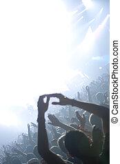 Rock concert - Raised hands in a rock concert