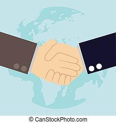 Mundialmente, cooperação, conceito, -,...