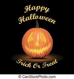 Halloween black background with pum