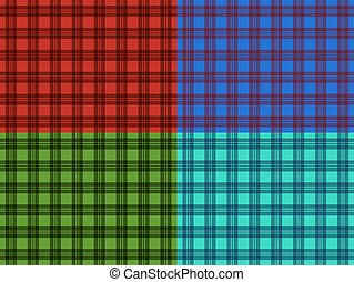 Set of seamless plaid patterns