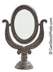 old metal mirror