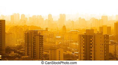 Sao Paulo in dusk - Sao Paulo in twilight time