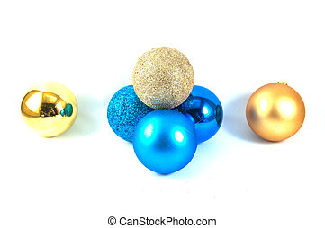 Full color plastic ball on the white background