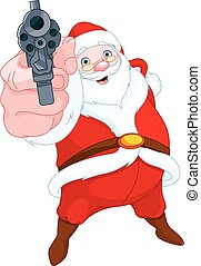 Robber Santa Claus - Illustration of cute robber Santa Claus...