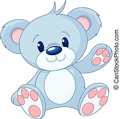 Toy Bear  - Illustration of cute toy bear