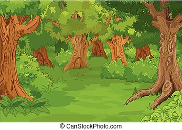 Forest Glade - Illustration of amazing forest glade