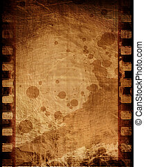 Old negative film strip - old negative film strip with some...