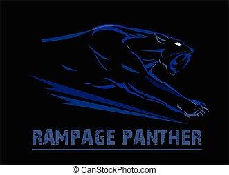 panther, fang face muscular panther - fang face muscular...
