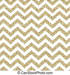 Chevron seamless pattern. Glittering golden surface