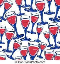 Sophisticated wine goblets continuous vector backdrop,...