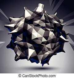 3D vector abstract design object