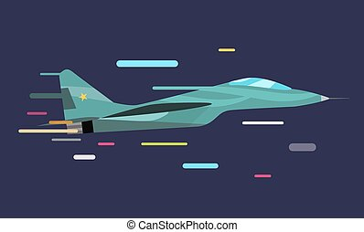 War military plane  illustration