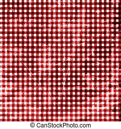 Red picnic fabric with straight lines in it