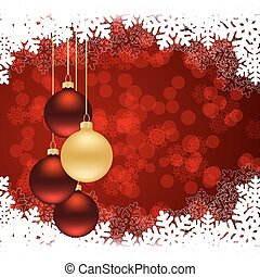 christmas red card - Red Christmas background with...