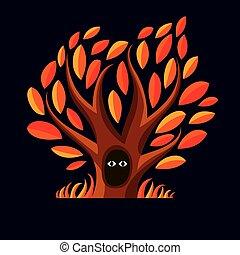 Vector art branchy tree