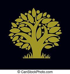 Art illustration of branchy tree - Art illustration of...