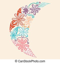 Half Moon Flower Vector