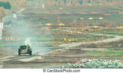 Russian tank shooting