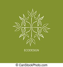 Nature vector background ornament 1