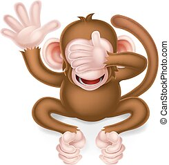 See No Evil Wise Monkey - See no evil cartoon wise monkey...
