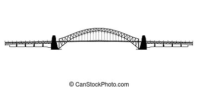 Sydney Harbour Bridge Silhouette - Silhouette of the Sydney...