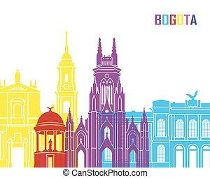 Bogota skyline pop - skyline pop in editable vector file