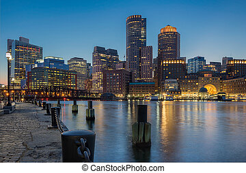 Boston Harbour - Apartments offices and hotels line the...