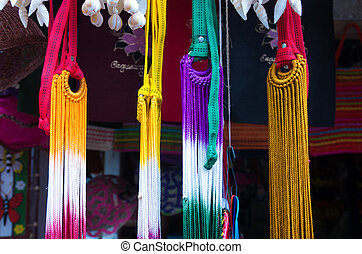 souvenir shop with hammocks - colorful hammocks at a...