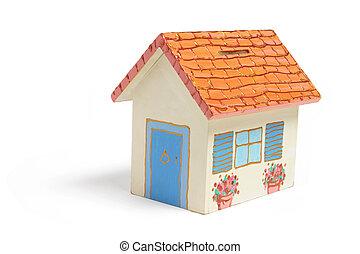 House Money Box on Isolated White Background