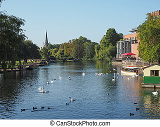 River Avon in Stratford upon Avon - STRATFORD UPON AVON, UK...