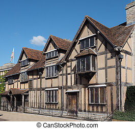 Avon,  Stratford, local de nascimento, sobre,  Shakespeare