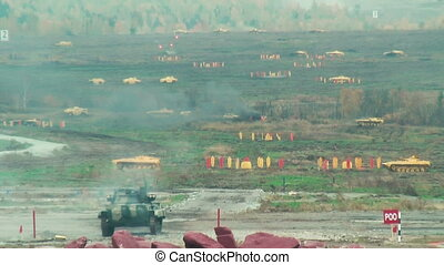 Russian tank shooting - Nizhniy Tagil, Russia - September 25...