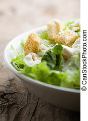 Caesar salad - Ceasar salad with lots of dressing and...