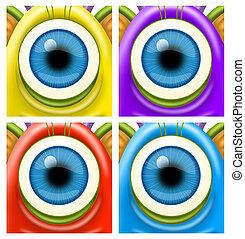 Monsters eyes