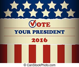 USA 2016 Vote Your President