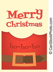 Christmas Poster - Christmas Card Beard of Santa Claus, Coat...