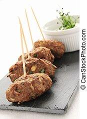 shish kofta kofte - mini kofte shish kebabs canape starter
