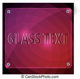 Glass sign board