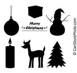 Christmas icon sillhouette