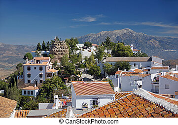 Comares rooftops - Andalucia in Spain: the pretty peublo...