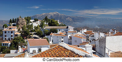 Comares panorama - Andalucia in Spain: the pretty peublo...