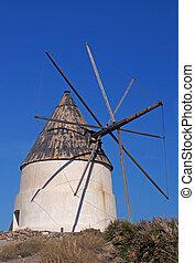 Spanish windmill - Almeria in Spain: Spanish windmills near...
