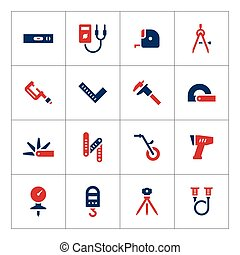 Set color icons of measuring tools