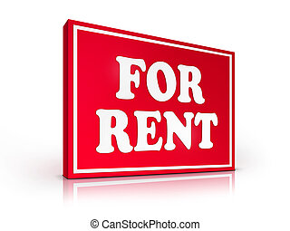 Real Estate Sign - For Rent