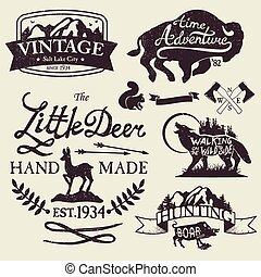 Vintage badges - Set of vintage icons, emblems and labels....