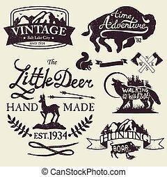 Vintage badges - Set of vintage icons, emblems and labels....