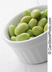 soya beans - fresh soya beans
