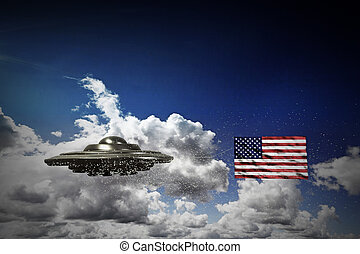 united states conspiracy - unidentified flying object with...