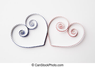 Hearts of paper quilling for Valentine's day - Quilling...