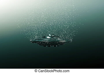 unidentified flying object moving under the sea
